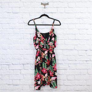 AS U WISH Flamingo Flowy Summer Spring Dress Sz M